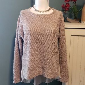 ZARA COLLECTION Gold Shimmer Sweater